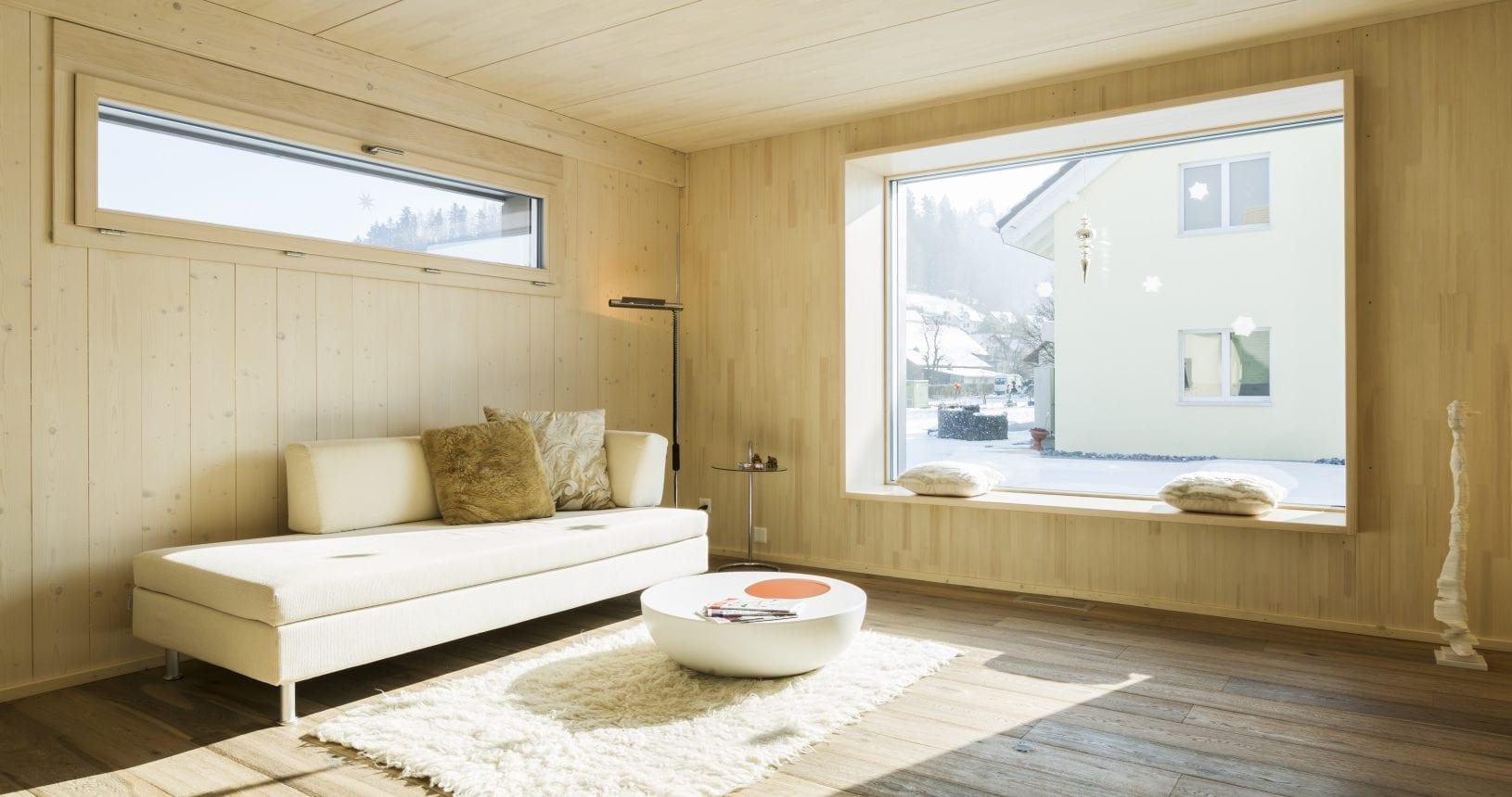 Zimmer eines Holzhauses